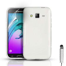 S-Line Gel Funda & Protector de pantalla para Samsung Galaxy J3 (6) 2016