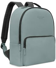 CALVIN KLEIN gray faux leather BACKPACK book GYM SCHOOL carry on rucksack Bag