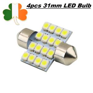 4pcs 31mm LED Car Interior Bulb Warm White Light Lamp DC 12V C5W 16 SMD