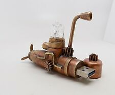steampunk submarine . steampunk flash drive.hand made gizmo.one of a kind, 32GB.