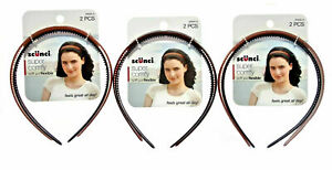 Scunci Super Comfy Plastic Headband/Hairband Wide Soft and Flexible 6 Count