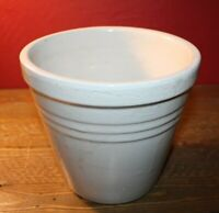 Vintage USA 5 on Bottom Stoneware Crock, Cream in Color, Pottery Planter