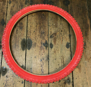 Raleigh Ryder Red MTB Tyre / Bicycle Tyre. 24 x 1.95 (ETRTO 50-507) *NOS