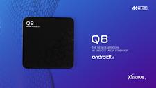 Xsarius Q8 4K OTT Media Streamer, UHD, Premium TV, WLAN, Bluetooth, Android 8.0