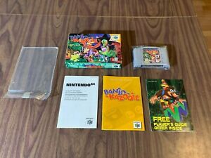 Banjo Kazooie (Nintendo 64, N64) Complete in Box -- Authentic -- Tested