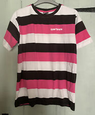 Jd Sports - Carbrini Pink, White & Black Striped T Shirt Age 14-15 Years XL Boys