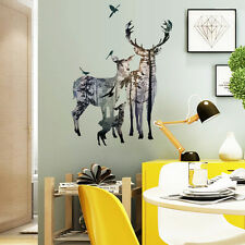 Removable Deer Forest Wall Stickers Decals Art Mural Vinyl Home Room Decor Hot