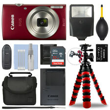 Canon IXUS 185 / ELPH 180 Digital Camera Red + 32GB Deluxe Accessory Package