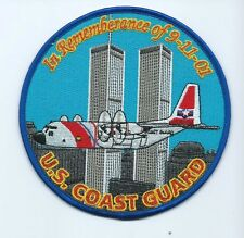 USCG United States Coast Guard Patch In rememberance of 9-11-01 plane left 5 in