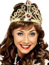 da donna color oro corona regina REGALE Tiara adulti REALE Accessorio Vestito