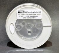 """Open Reel Audio Leader Tape Solid White 1/4"""" X 500' on 5"""" Pro Reel by TME NEW!"""