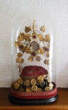 Superbe ancien globe de marié, décoré d'oiseaux et fleurs - Napoléon III