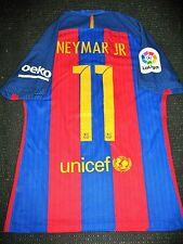 Authentic Neymar Barcelona Match Worn Jersey 2016 - 2017 Shirt Camiseta Brazil