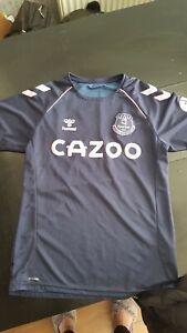 Everton Training Crew Sports Football Shirt Navy
