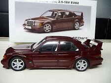 Mercedes  190E 16V 2,5 Evo 2 red Autoart Millenium 1:18 NEW FREE SHIPPING