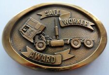 SAFE WORKER AWARD BELT BUCKLE (Lowered Price Again, steal it)