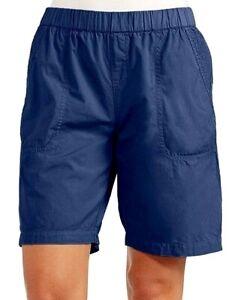 NWT New FRESH PRODUCE Moonlight Navy Blue Beachcomber Cotton Shorts Large L $55