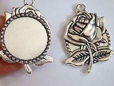 5 Cornice Foto Grande Bianchi Rosa Ciondoli impostazione Tibetan Silver trovare UK SF80
