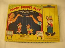 "1959 SAALFIELD HAPPY PUPPET PLAY CARDBOARD PUPPETS ""LOOK:"