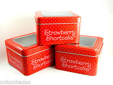 Strawberry Shortcake  Modern Vintage Collectible Metal Watch Tin Box 2007-red