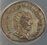 AD 244-249 Ancient Roman Silver Coin Philip I Rome Mint - Grade ANACS EF-45 AKR!