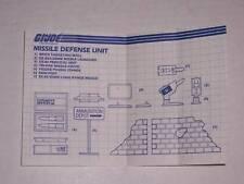 GI G I JOE BLUEPRINTS 1984 MISSILE DEFENSE UNIT 84