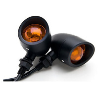 2X Motorcycle Black Amber Turn Signal Light Kawasaki Vulcan Classic Custom 900