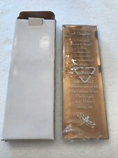 Daughter- Inspirational Plaque with stand - beveled glass, NIB - Best gift