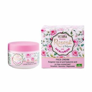 Ultra Hydrating Face Cream with Rose Oil and Hyaluronic Acid Victoria Beauty