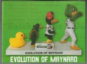 """2020 SGA """"Evolution of Maynard"""" Madison Mallards Bobblehead NIB"""