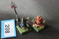 Games Workshop Warhammer Skarsnik and Gobbla Goblin Squig OOP Metal Orcs GW F13