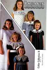 Beaucoup Sewing Pattern Girl's COLLAR COLLECTION II 232 SM-MED-LG (2-14) UNCUT