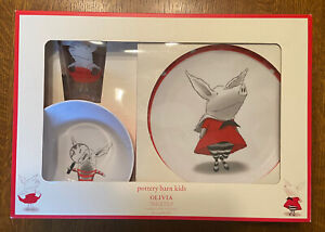 Pottery Barn Kids Olivia The Pig Tumbler, Plate, and Bowl