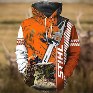 Chainsaw Stihl 3D All Over Printed Hoodie Gift For Dad M-3XL