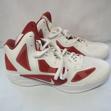 Nike 454146 105 Zoom Hyperfuse Tb White / Red  Men's Basketball Shoes 17.5 US