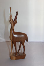 Antelope Wooden Figure Carved Besmo Product Kenya African Culture