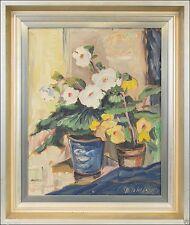 1950-1999 Original-der-Zeit Originalgemälde über Stillleben (1900-1949) für Öl auf Blume, Frucht & Pflanze