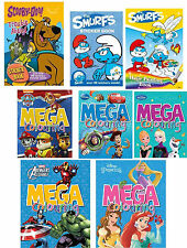 Cartoon Childrens Creative Colouring Art Reusable Sticker Books Large Selection