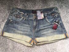 Ladies Miss Selfridge Denim Shorts - Size 14 ** New **