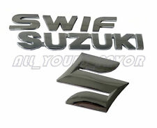 3pcs a Pack of 3D Suzuki + S +Swift  Adhesive Car Auto Body Emblem Logo Stickers