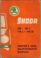 Skoda S 100 100L 110L 110LS Saloon 1972 Original Owner's Handbook in English