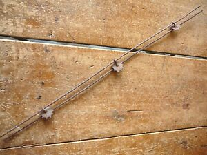HODGES SPUR ROWEL BARB on TWO PARALLEL LINES - ANTIQUE BARBED BOBBED BOB WIRE