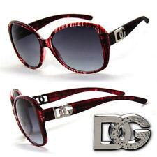 DG Nouveau Mode femmes lunettes de soleil grand carré UV400 DG178 Burgundy Frame