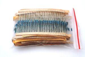 Metal Film Resistors, 1/4watt, 1% Tolerance, 30 Values, Kit of 600pcs, UK Seller