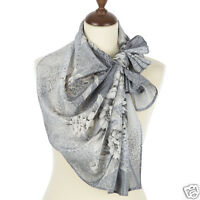 1513-2 100% SILK SCARF RUSSIAN PAVLOVO POSAD SHAWL WOMENS DRESS WRAP 150cm GIFT