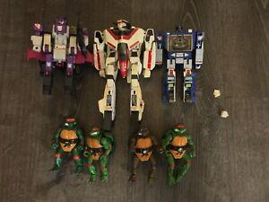 Transformers G1 Jetfire Soundwave Apeface 1985 Hasbro TMNT vintage toys lot