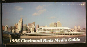 1985 Cincinnati Reds Official Media Press Guide, 128 Pages of Facts and Fun!