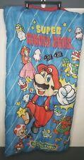 """Vintage Super Mario Bros. Sleeping Bag 1988 52"""" x 27"""" Nintendo YOUTH"""