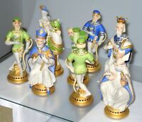 Rare Cybis Porcelain Commemorative Chess Set - #3 of 10 Made! w Chest & Board