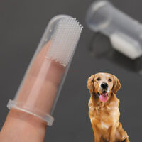 10pcs Finger Latex Toothbrush Pet Dental Teeth Care Clean Brush For Dog Puppy